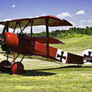 Classic Red Barron Fokker Dr.1 Triplane Photo Poster