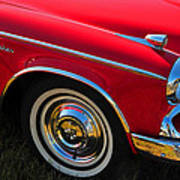Classic Red Studebaker Poster