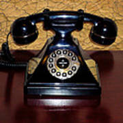 Classic Rotary Dial Telephone Poster