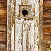 Classic Rustic Rural Worn Old Barn Door Poster