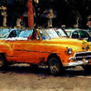 Classic Yellow Havana Poster by Fran Hogan