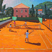 Clay Court Tennis Poster