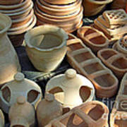 Clay Pots And Other Containers Poster