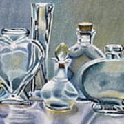 Clear Glass Bottles Poster
