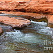 Clear Water At Slide Rock Poster by Carol Groenen