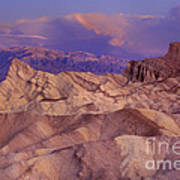 Clearing Sunrise Storm Zabriske Point Death Valley National Park California Poster