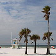 Clearwater Beach In Wintertime Poster
