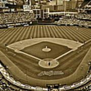 Cleveland Baseball In Sepia Poster