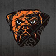 Cleveland Browns Football Team Retro Logo Ohio License Plate Art Poster
