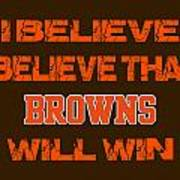 Cleveland Browns I Believe Poster