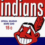 Cleveland Indians 1957 Scorecard Poster
