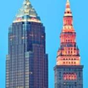 Clevelands Iconic Towers Poster