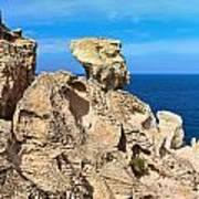 cliff in San Pietro island Poster