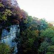 Rock Cliff With Trees Poster