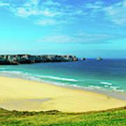 Cliffs In The Sea, Pointe De Pen-hir Poster