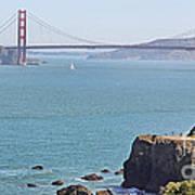 Cliffs Near Golden Gate Bridge Poster