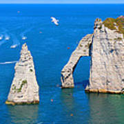 Cliffs Of Etretat France Poster