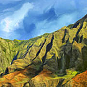 Cliffs On The Na Pali Coast Poster