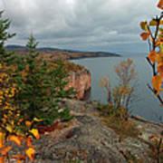 Cliffside Fall Splendor Poster