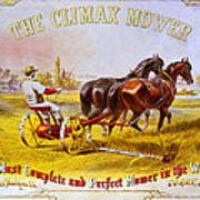 Climax Mower Poster