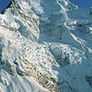 Climber Enjoying View Of Mt Cook Poster