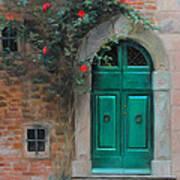 Climbing Roses Cortona Italy Poster