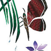 Clinging Butterfly Poster by Earl ContehMorgan