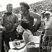 Clint Eastwood  Eric Fleming Characters Rowdy Yates Salinas California 1962 Poster