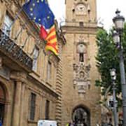 Clock Tower Aix En Provence Poster