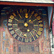 Clock Tower In Solothurn Poster