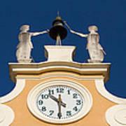 Clock Tower In Bardolino Poster