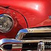 Close Up Of A Red Chevrolet Poster