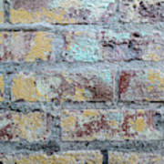Close-up Of Old Brick Wall Poster