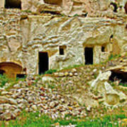 Close-up Of Tufa-carved Homes In Cappadocia-turkey Poster