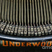 Close Up Of Vintage Typewriter Keys. Poster