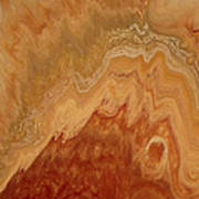 Close-up One Of Agate Seven From The Poured Agate Painting Collection Poster
