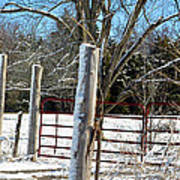 Closed Gate In Winter  Poster