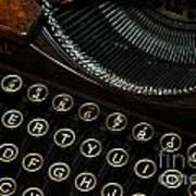 Closeup Of Antique Typewriter Poster