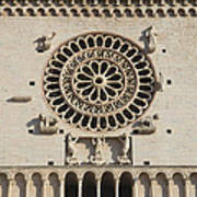 Closeup Of Assisi Cathedral Poster