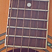Closeup Of Guitar Art Prints Poster