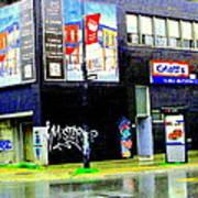 Closing Time Montreal Factory Glatts Produits Quebec Meats Graffiti Art City Scenes Carole Spandau Poster
