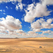Cloudscape At Sahara Desert Poster