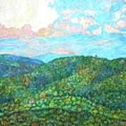 Cloud Dance On The Blue Ridge Poster