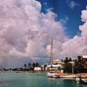 Cloud Faces Over St. George's, Bermuda Poster
