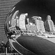 Cloud Gate Bean Black And White Poster