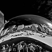 Cloud Gate Chicago - The Bean Poster by Christine Till