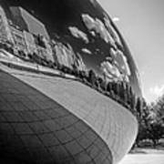 Cloud Gate Teardrop Black And White Poster