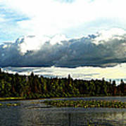 Cloud Over Lake Tomiko Poster by Dianne  Lacourciere