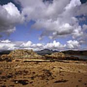 Cloud Passing Across The Cuillin Main Ridge And Bla Bheinn From Tokavaig Sleat Isle Of Skye Scotland Poster