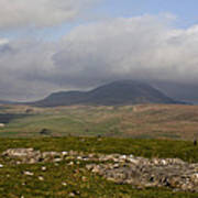 Cloud Streaming Across The Summit Of Pen-y-ghent Ribblesdale North Yorkshire England Poster